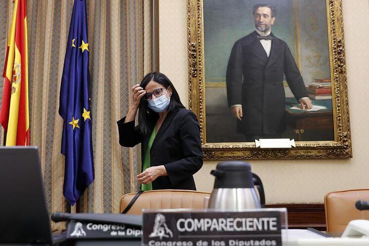 Cinta Pascual, presidenta de Ceaps, durante su comparecencia en el...