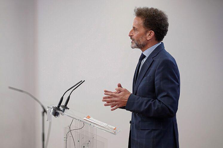 Le porte-parole des citoyens Edmundo Bal, ce mardi, lors d'une conférence ...