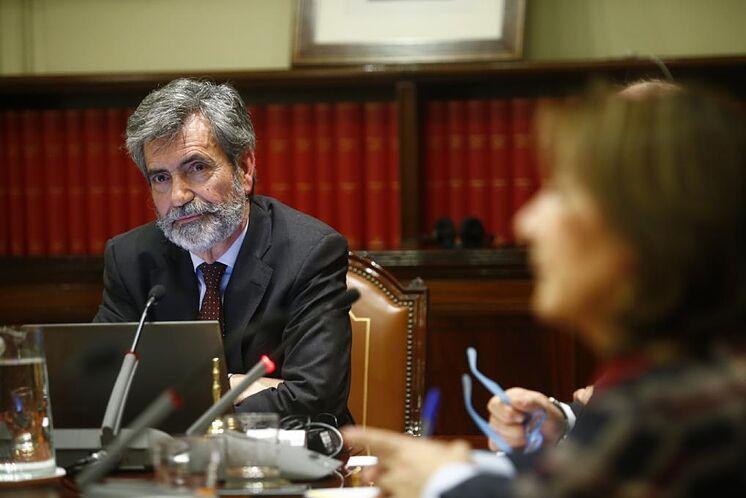 Le président du Conseil Carlos Lesmes lors d'une réunion