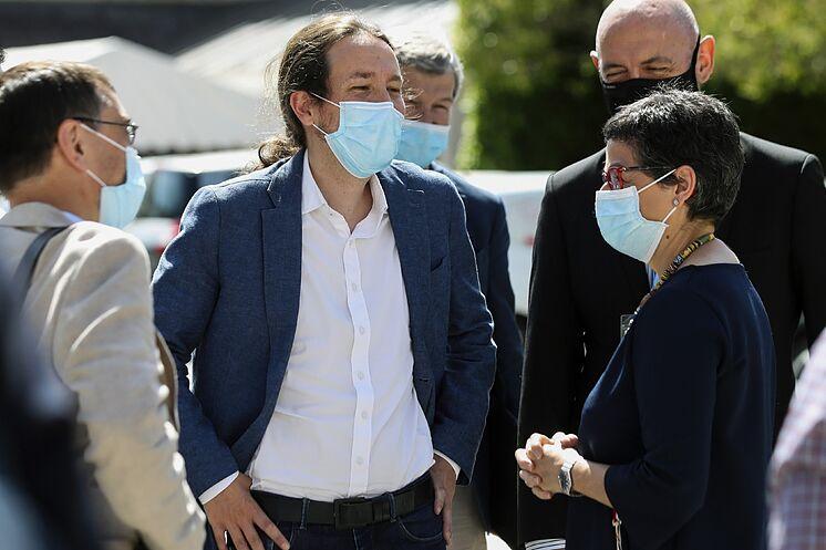 Le deuxième vice-président du gouvernement, Pablo Iglesias, dans l'un de ses ...