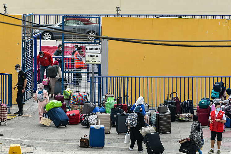 Bagages des citoyens marocains