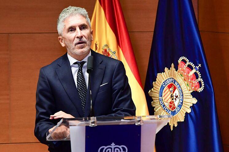 Fernando Grande-Marlaska, vendredi, dans un acte de police