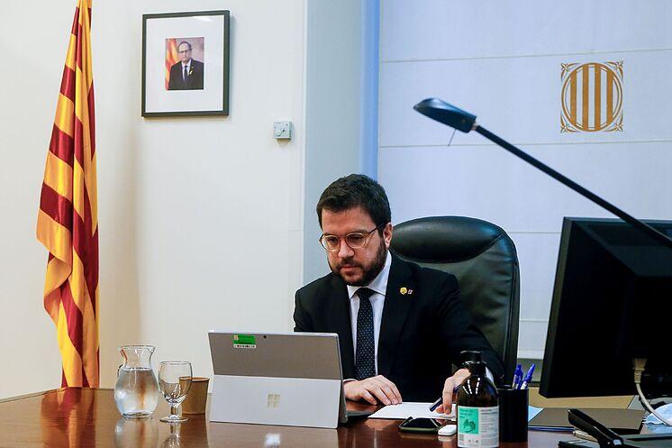 Le président par intérim de la Generalitat, Pere Aragon