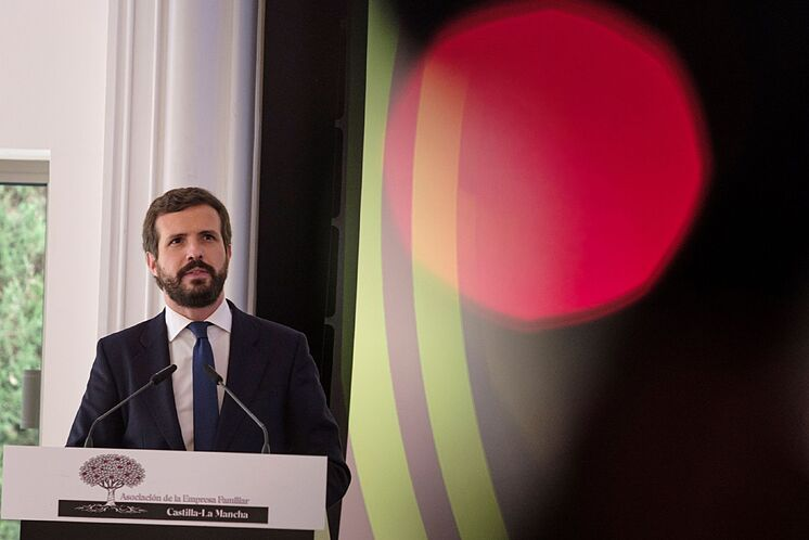 TOLEDO.- Le président du PP, Pablo lt; HIT gt; Casado lt; / HIT gt ;, ...