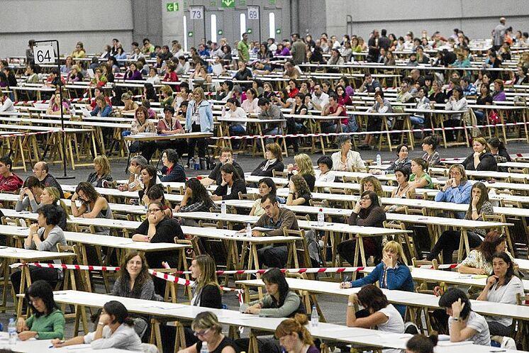 Examen des fonctionnaires à Bilbao.