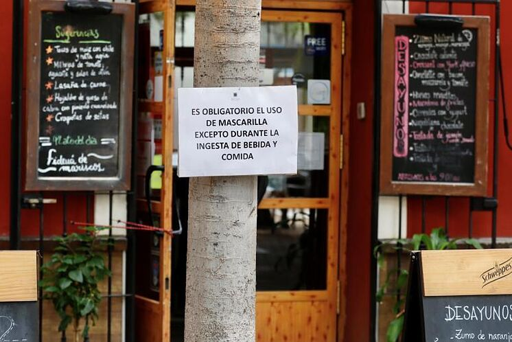 Un signe dans un bar à Alameda de H