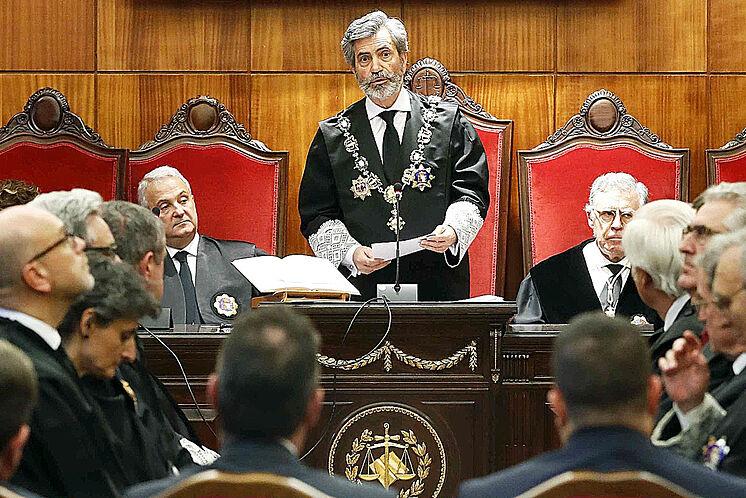 Carlos Lesmes, président de la Cour suprême et de la CGPJ, dans le ...